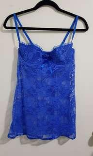 Brand New Size L Lace Babydoll Chemise Lingerie