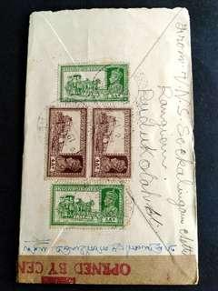 🚚 Malaysia Penang airmail vintage cover