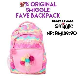 Original Smiggle Faves Backpack Beg Bag Free