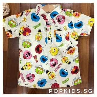 1-8yo Sesame Street Shirt (Beige)