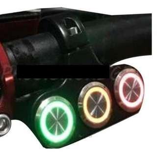 3in1 Metal LED Backlight On / Off Switch (Eco / Turbo / Hazard Light / Angel Switch) Fiido/DYU/AM/Tempo/Venom