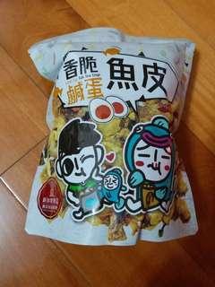 新加坡 爵爵&貓叔 香脆鹹蛋魚皮 100g