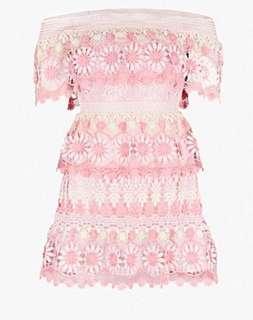 Self Portrait mini dress low cut dress 露膊 短裙 飲宴裙 司儀裙 uk10 現貨 特價 英國直購 迷你裙 裙