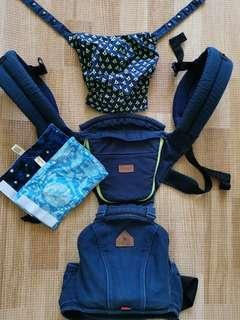 I-angel hipseat carrier in navy blue