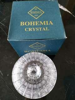 Brand New Bohemia Crystal candy bowl with cover