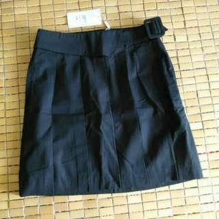 🚚 iora pleated black skirt