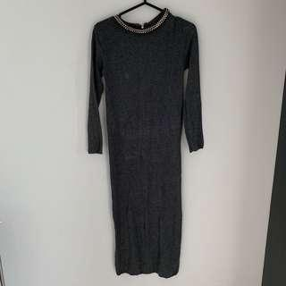 Zara knitting rajut midi dress