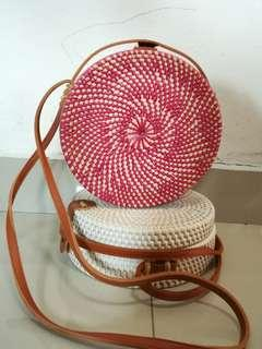 CLEARANCE STOCK!!!  Rattan Bag, GraceFINE Round Hand Woven Ata Rattan Crossbody Bags, Rattan Purse For Women