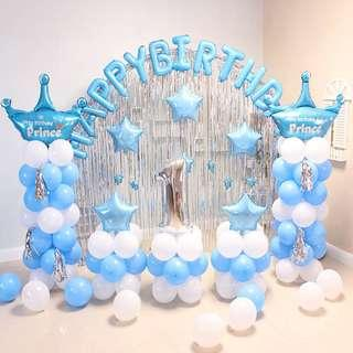🚚 Birthday wedding event party balloon decoration for babies and adults