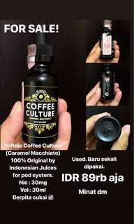 Salt Nic coffee culture caramel macchiato original 100%  by Indonesian juices