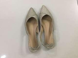 S&H Gold Glitter Pointed Sandal