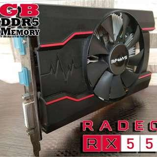 Video Card RX550 SAPHIRE PULSE 4GB - 128 BIT