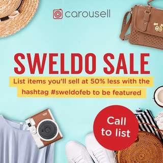 REMINDERS: Sweldo Sale (Everything at 50% Less)