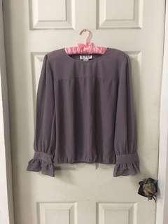 Purple long sleeves top