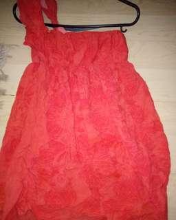 One shoulder off mini dress