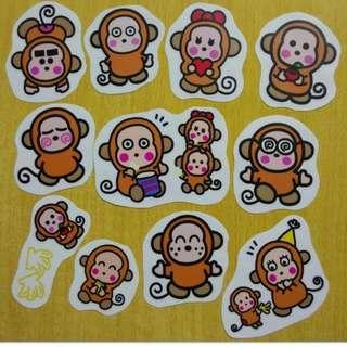 卡通防水貼紙  (Noo. VV01)  防水貼紙 sticker