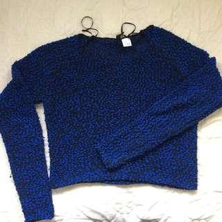 Include Postage H&M Blue Crop Top
