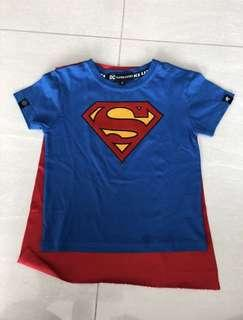 🚚 Authentic superman with cape tee
