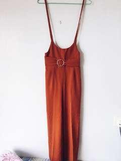 Brown Outerwear Long Pants/Jumpsuit