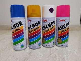 DPI Anchor Spray Paint (blue, gold, purple, pink)