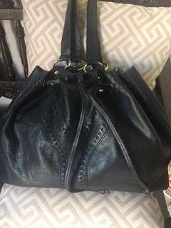 YSL leather reversible tote bag