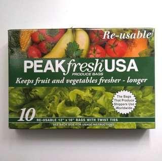 美國蔬果保鮮袋 PEAKfresh USA 包郵  PEAKfresh USA Produce Bags
