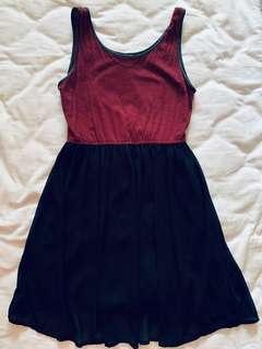 F21 Leather trim dress