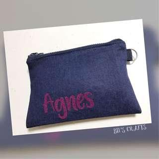 Personalized gifts ~ Travel Tissue cum zipper pouch