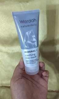Mineral+clariying clay mask    Wardah mask