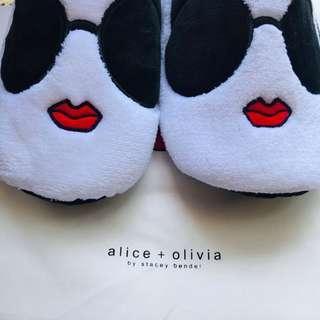 alice+olivia slippers 全新毛毛家居室內拖鞋 連全新原裝索繩旅行塵袋