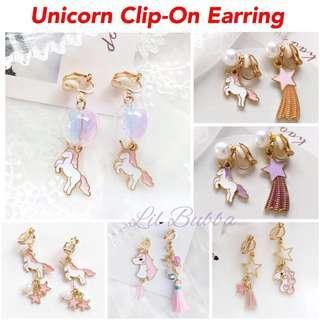 🚚 [Ready Stock] Unicorn Clip-On Earrings/ Unicorn Clip-on