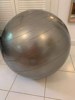 65cm exercise ball (silver) with pump