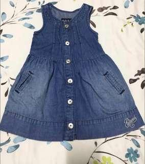 🚚 Stylish Guess Denim Dress (9 months old - 12 months old)