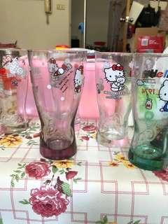 🚚 Hello kitty 曲線玻璃杯