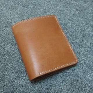 Classic bifold italian buttero leather short wallet