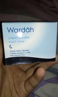Wardah lightening night cream step 2
