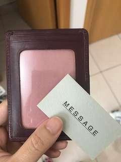 包郵! Patrick cox brown red card holder