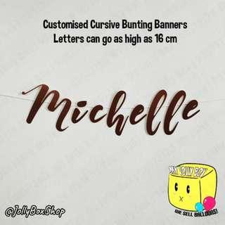 Copper Color Theme Cursive Bunting Banner   Perfect For Backdrops #Wedding #Birthday