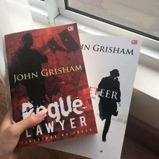 John Grisham Books, The Racketeer and Rogue Lawyer.
