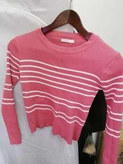 Stripes women long sleeve top
