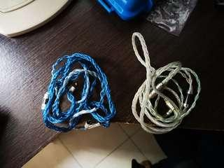 Selling at 50% Infinity Audio 8 braid cable (worth $240) and Cable from Lotus Audio (worth $120) (2 pins)