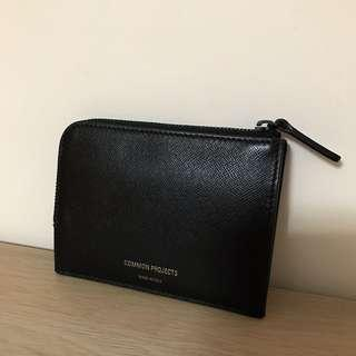 🚚 Common Projects zipper wallet in soft leather 黑色 防刮 牛皮 短夾 卡夾 零錢包