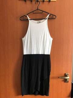 ASOS Black & White Sleeveless Bodycon Dress