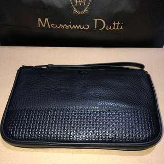 Massimo Dutti - Leather Montana Clutch