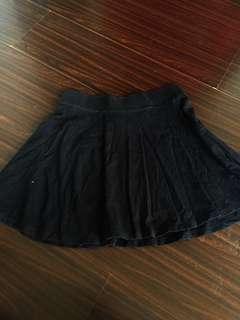 Forever21 Skater Skirt in Black