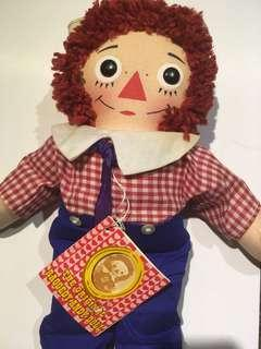 Raggedy ann and andy doll 70s vintage 公仔