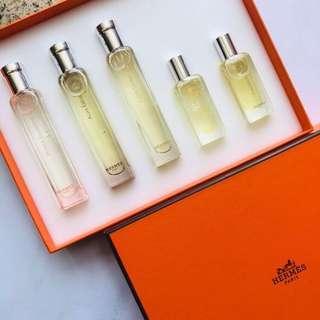 Hermes perfume box set 法國製香水禮盒 共五支