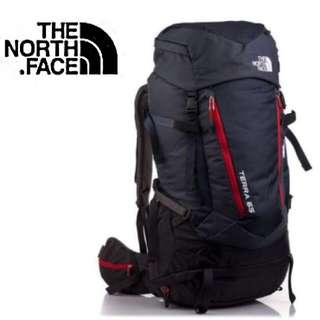 THE NORTH FACE TERRA 65 | HAVERSACK | BACKPACKER  Color : TNF BLACK / FIERY RED