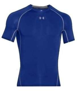 Under Armour HeatGear 緊身短袖衫 Compression Short Sleeve Shirt - Blue藍色 Size XXL