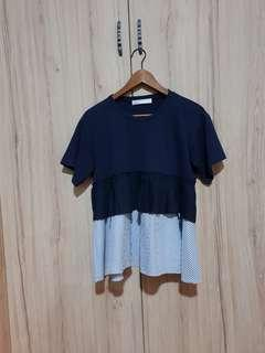 Love and Bravery Navy Blue Top